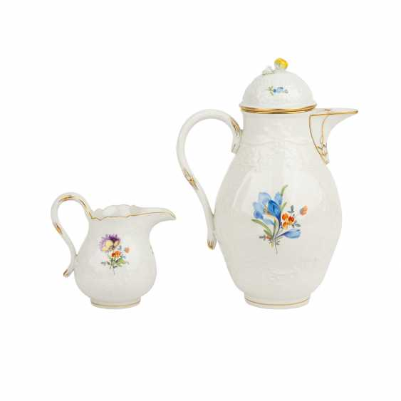 MEISSEN coffee service for 6 persons, German flower Neumarseille', 20. Century - photo 3