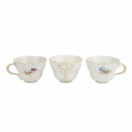 MEISSEN coffee service for 6 persons, German flower Neumarseille', 20. Century - photo 6