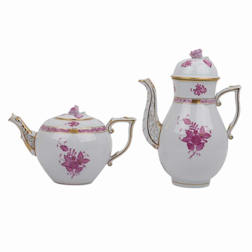 HEREND coffee or tea set f. 10 persons 'Apponyi purple', 20. Century. - photo 2