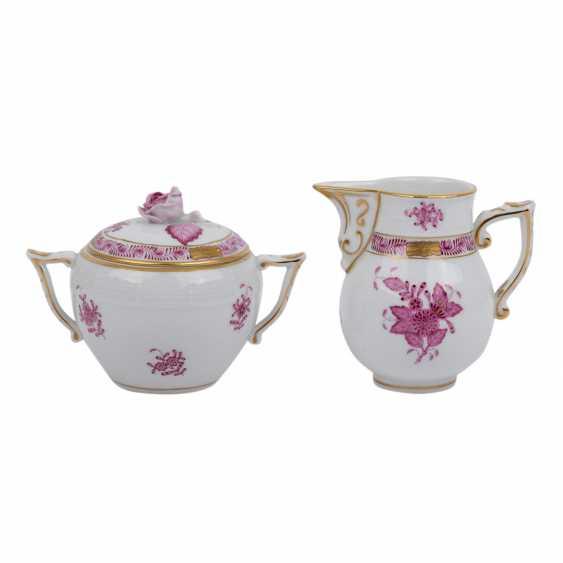 HEREND coffee or tea set f. 10 persons 'Apponyi purple', 20. Century. - photo 5