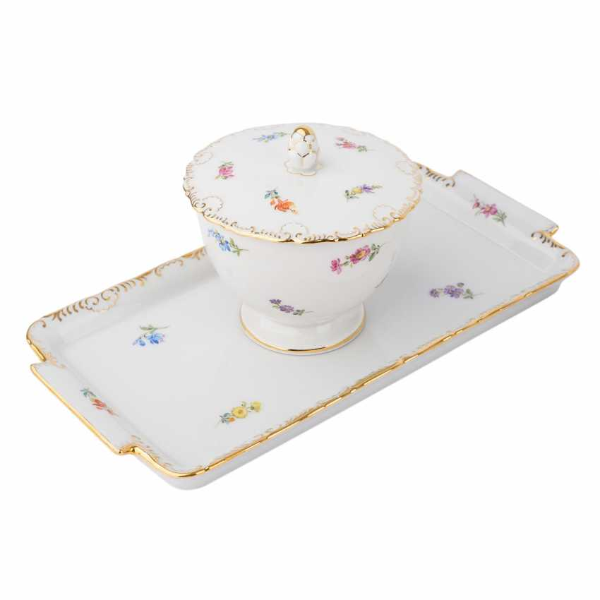 MEISSEN coffee service for 9 people 'scallop edge and scattered flowers', 20. Century. - photo 3