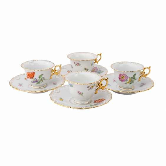 MEISSEN coffee service for 9 people 'scallop edge and scattered flowers', 20. Century. - photo 4