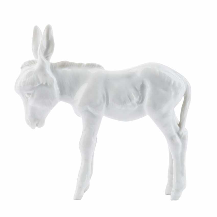 MEISSEN small donkey, 20. Century. - photo 2