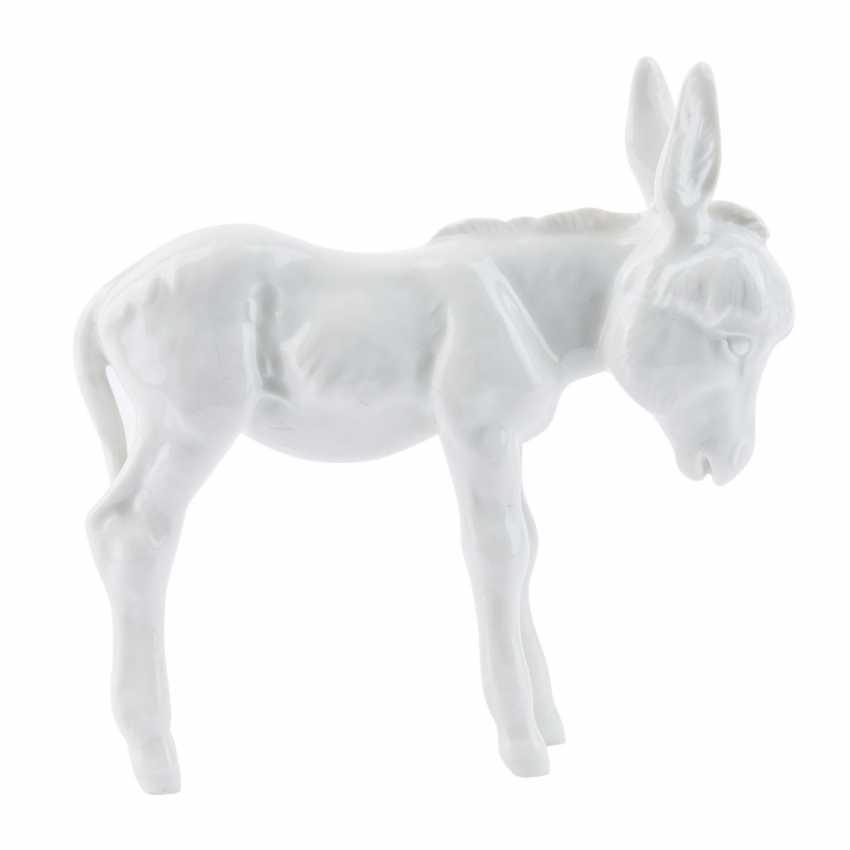 MEISSEN small donkey, 20. Century. - photo 4