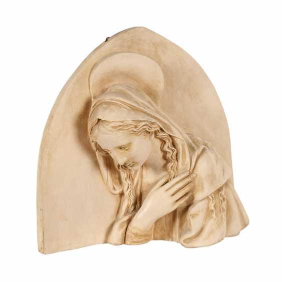 "MANUFATTURA DI SIGNA nahe Florenz, Terrakotta-Wandrelief ""Madonna"", 1. H. 20. Jahrhundert - photo 1"