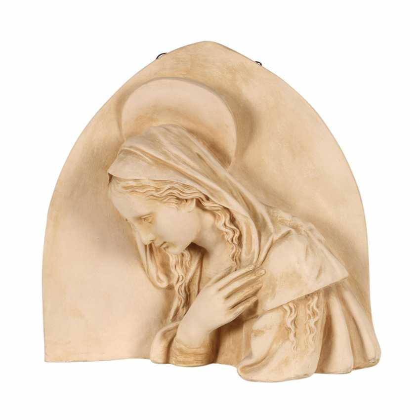 "MANUFATTURA DI SIGNA nahe Florenz, Terrakotta-Wandrelief ""Madonna"", 1. H. 20. Jahrhundert - photo 2"