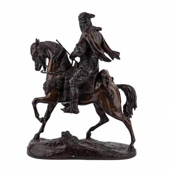 "BARYE, ALFRED (1839-1882) bronze sculpture ""Imposing equestrian bronze of a Oriental"" - photo 3"