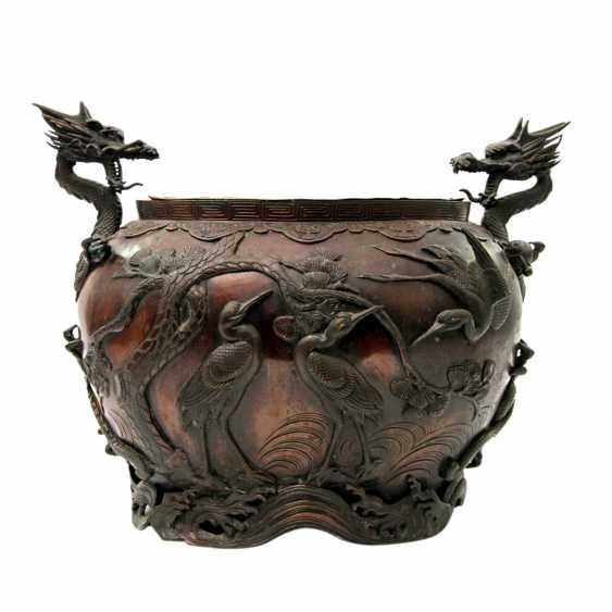 Bucket made of Bronze. CHINA, 19. Century - photo 3