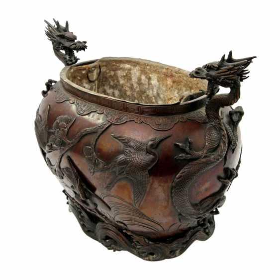 Bucket made of Bronze. CHINA, 19. Century - photo 4