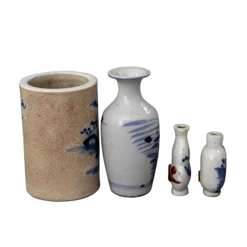 Group of 4 parts of blue-and-white porcelain. CHINA, around 1900 - photo 4
