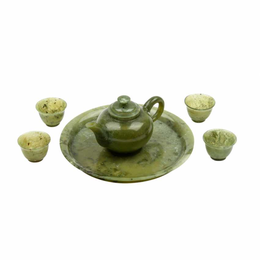 Tea Service made of jadeite. CHINA, 20. Century. - photo 3