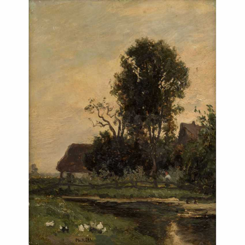"RÖTH, PHILIPP (1841-1921), ""river section in front of the village"" - photo 1"