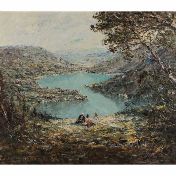 "KLARL, JOSEPH (1909-1986), the ""lake of Lugano, view of Lavena Ponte Tresa"" - photo 1"