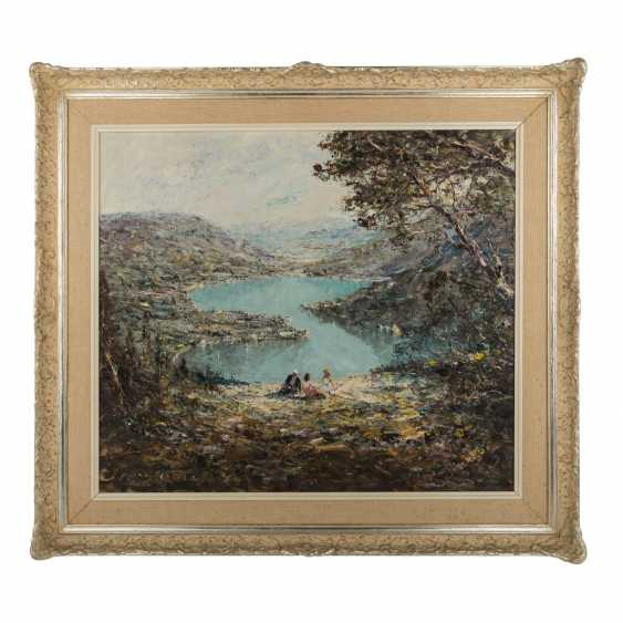 "KLARL, JOSEPH (1909-1986), the ""lake of Lugano, view of Lavena Ponte Tresa"" - photo 2"
