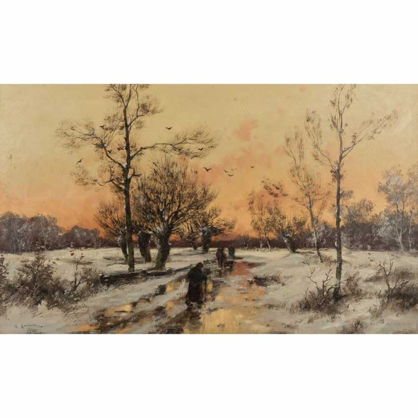 """KAUFMANN, KARL, attrib., """"Winter landscape"""" - photo 1"""