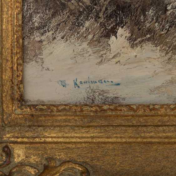 """KAUFMANN, KARL, attrib., """"Winter landscape"""" - photo 3"""