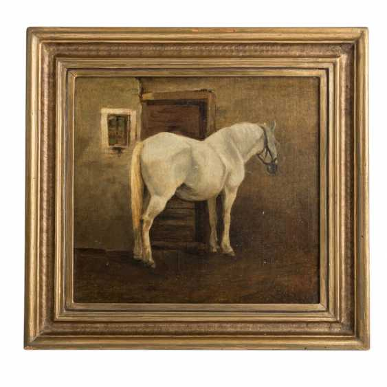 """Animal painter 19. Century, """"the horse in the stable"""" - photo 2"""