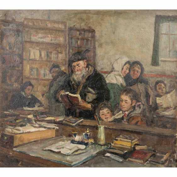 "HARTCHENKO, BORIS (also Kharchenko, 1927-1985, russ. Artist), ""In the village library"", - photo 1"