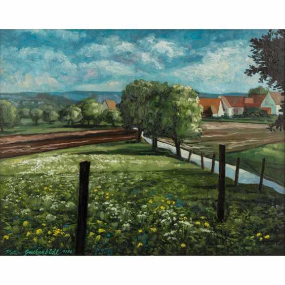 """GUCKENBIEHL, PETER (geb. 1951), """"flowering meadows at gagern mountain"""", - photo 1"""