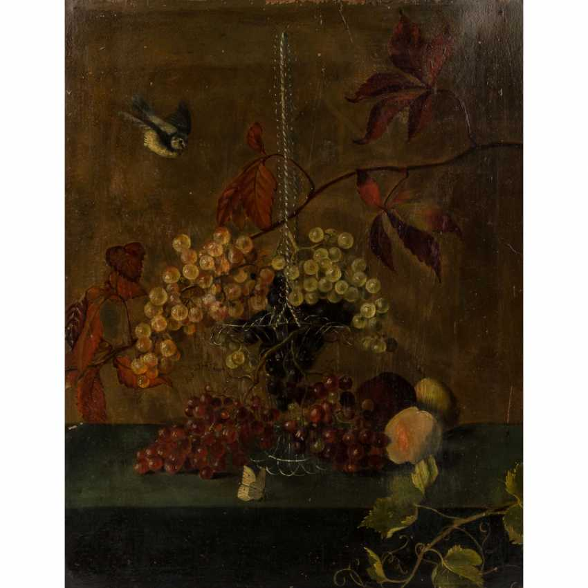 """PAINTER/IN 19. Century, """"autumn still life with grapes in a basket and fruits"""", - photo 1"""