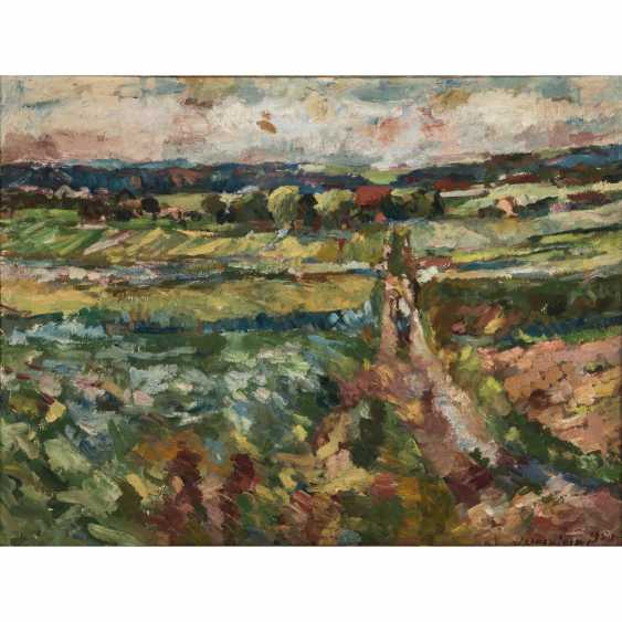 """HENNINGER, MANFRED (1894 - 1986, Professor), """"the path between the flowering meadows and fields"""", - photo 1"""