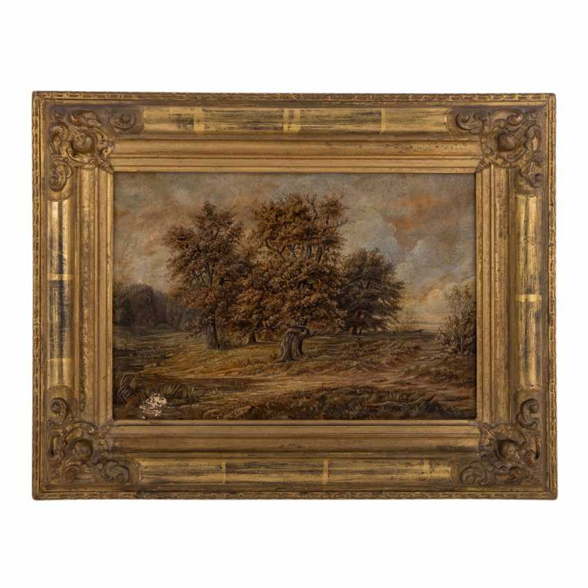 """PAINTER/IN 19. Century, """"landscape with trees by the river"""", - photo 2"""