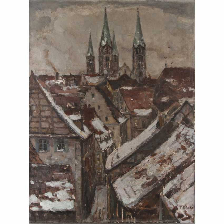"""KOLBE, ERNST (Marie Werder 1876-1945 Rathenow), """"of Bamberg in the Winter"""", - photo 1"""