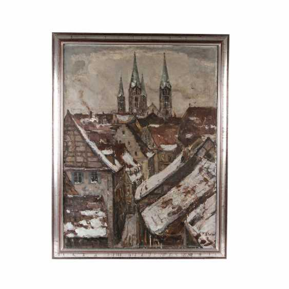 """KOLBE, ERNST (Marie Werder 1876-1945 Rathenow), """"of Bamberg in the Winter"""", - photo 2"""