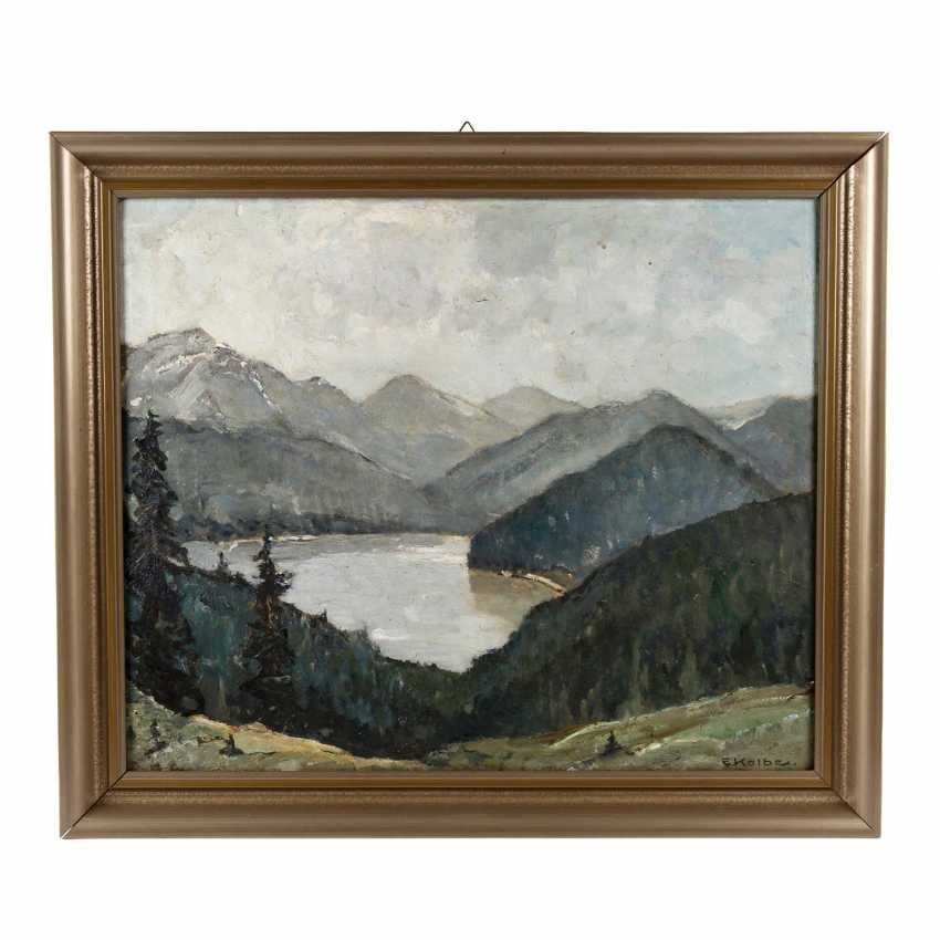 """KOLBE, ERNST (Marie Werder 1876-1945 Rathenow), """"lake in the high mountains"""", - photo 2"""