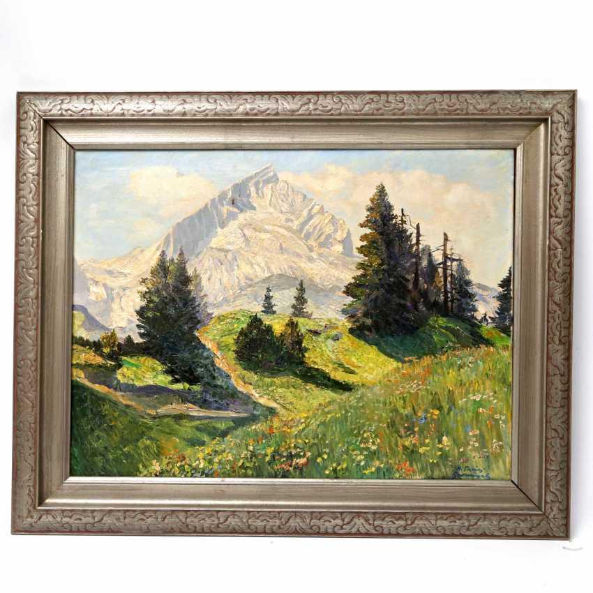 """THEIS, HEINZ (1894-1966, German painter active in Garmisch-Partenkirchen), """"Alpspitze in Garmisch"""", - photo 2"""