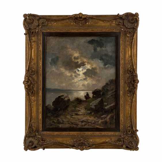 """LIER, ADOLF HEINRICH (1826-1882), """"rider in a landscape"""" - photo 2"""