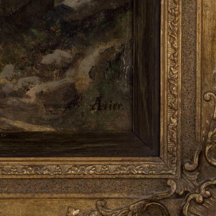 """LIER, ADOLF HEINRICH (1826-1882), """"rider in a landscape"""" - photo 3"""