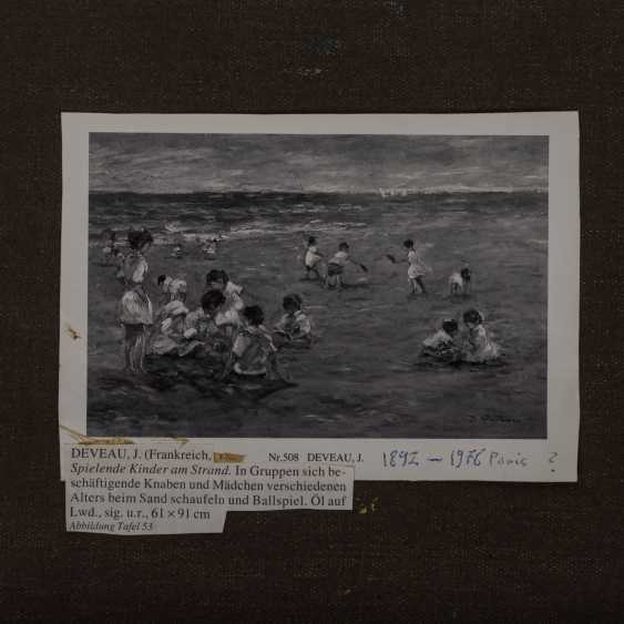"""DEVEAU, JACQUES (geb. 1937), """"children playing on the beach"""" - photo 5"""