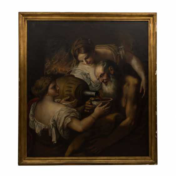 "Tank bidder, WILLIAM (1869-1954, a painter and copyist), ""Lot and his daughters"" - photo 2"