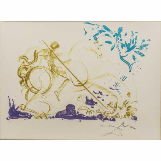 "DALI, SALVADOR ( 1893-1983) ""The Saint George and the dragon"" - photo 1"