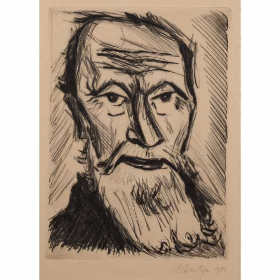 "PECHSTEIN, MAX (1881-1955), and ""fishing head"", 1922, - photo 1"