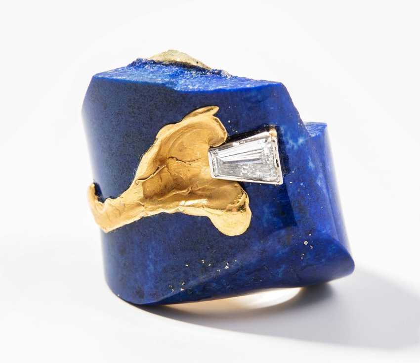 Diamant-Lapis-Ring - photo 1