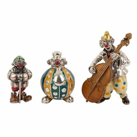 ITALY 3 piece vintage enameled clown figures, 20. Century. - photo 1
