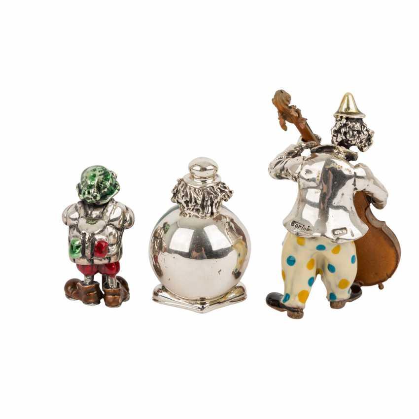 ITALY 3 piece vintage enameled clown figures, 20. Century. - photo 3