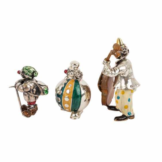 ITALY 3 piece vintage enameled clown figures, 20. Century. - photo 4