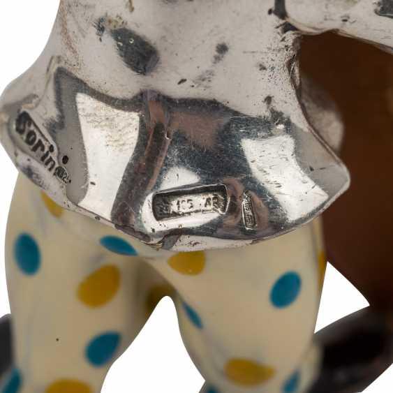 ITALY 3 piece vintage enameled clown figures, 20. Century. - photo 6