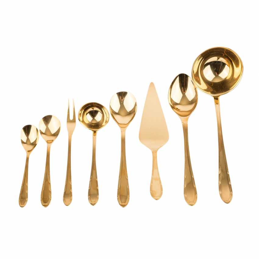 Cutlery for 12 persons, hard gold plated, 20. Century. - photo 3