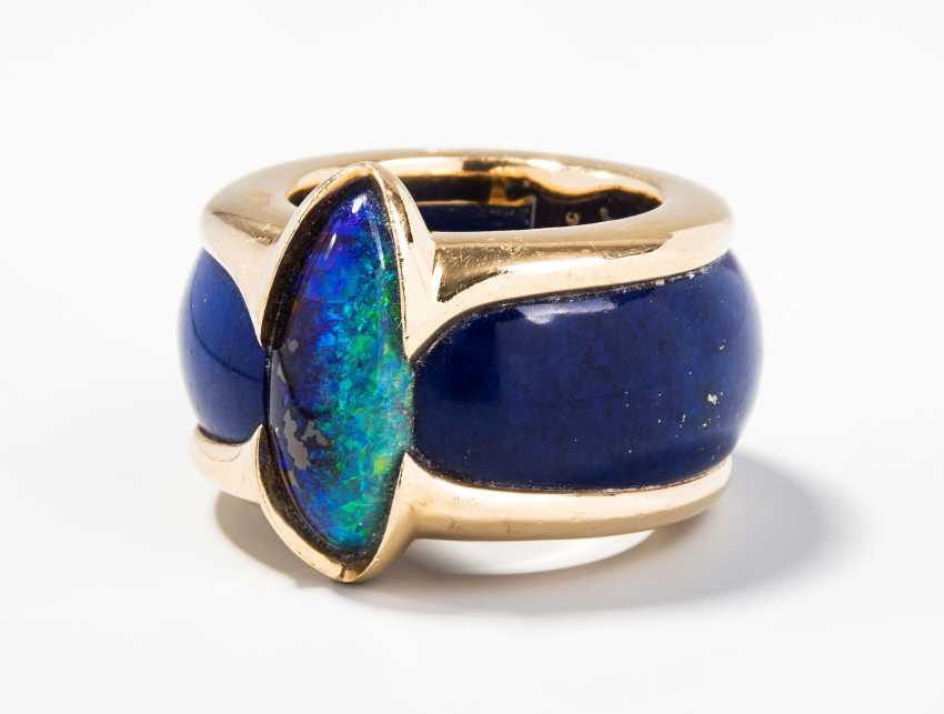 Philippe Pfeiffer Opal-Lapis-Ring - photo 1
