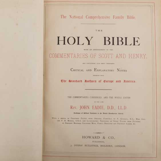 THE NATIONAL COMPREHENSIVE FAMILY BIBLE: THE HOLY BIBLE WITH AN ABRIDGEMENT OF THE COMMENTARIES OF SCOTT AND HENRY - photo 1