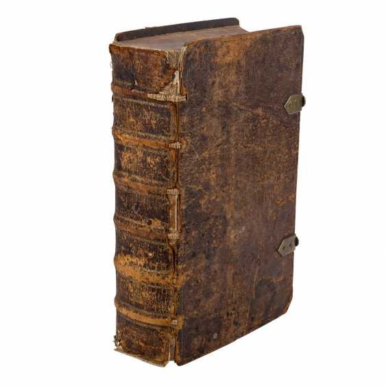 BIBLIA, THE ENTIRE HOLY SCRIPTURE. OLD AND NEW TESTAMENT. ENGLISH. - WITH THE SUMMARIEN D. HÜTTERI. - photo 3