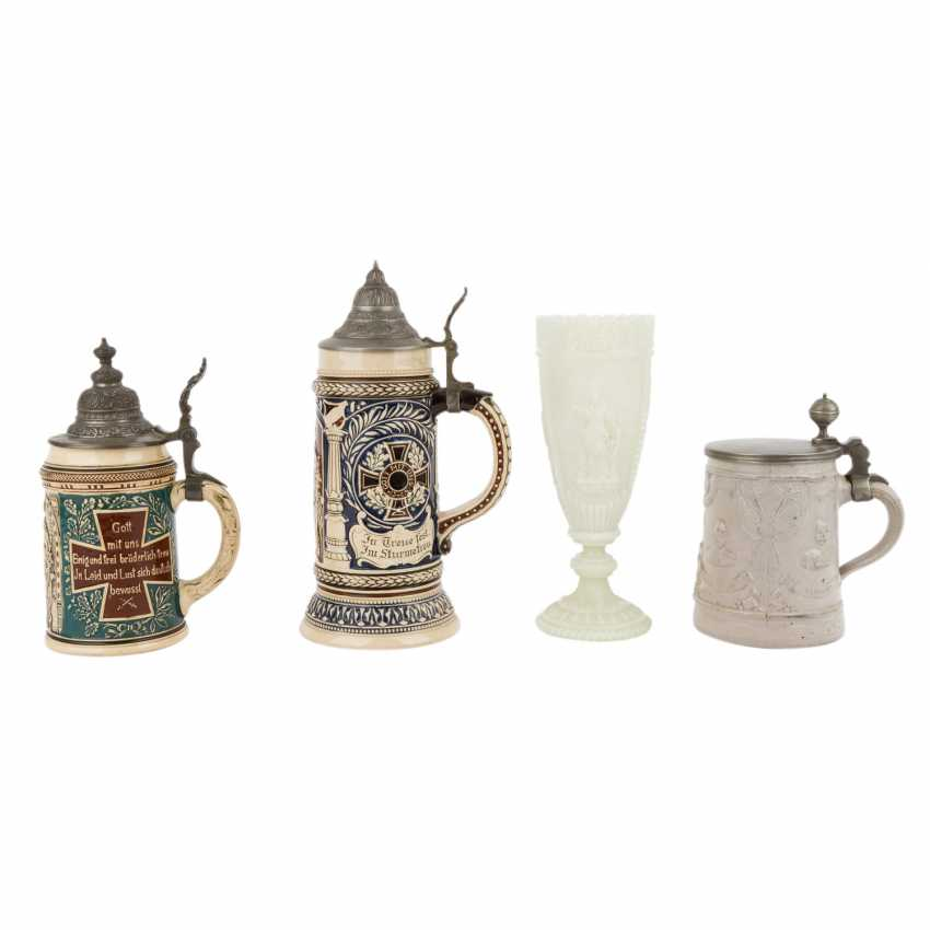 1870/71 - mixed lot of 3 mugs and 1 glass Cup - photo 1
