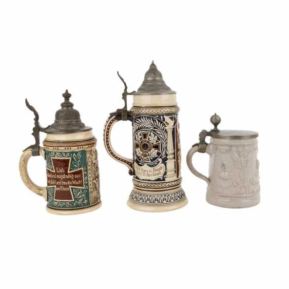1870/71 - mixed lot of 3 mugs and 1 glass Cup - photo 3