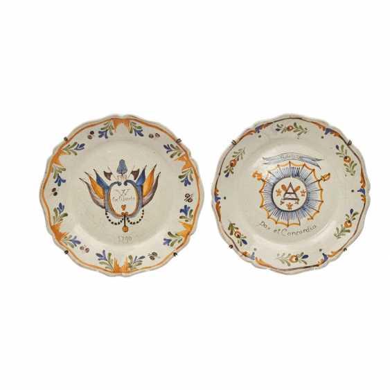 2 wall plates, France 18. Century, - photo 1