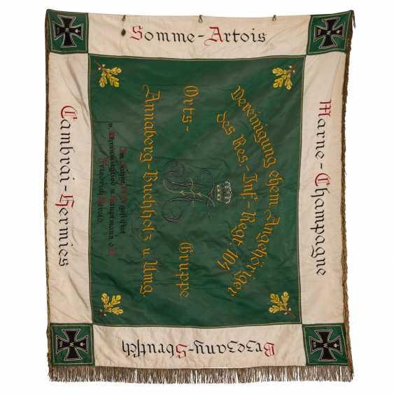War Club Flag Res. Inf. Regt. 104 Chapter Annaberg-Buchholz, - photo 2