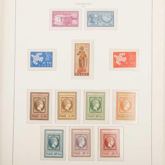 Griechenland - Postfrische Sammlung im Kabeklemmbinder - Foto 3
